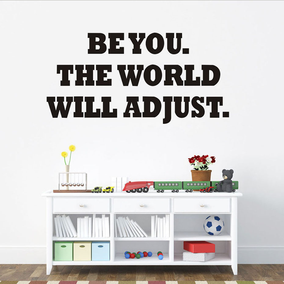 DCTOP Modern Be You The World Will Adjust Wall Sticker For Living Room Bike Pattern Blac ...