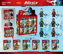 Decool 10023-10028 Ninja Spinjitzu Masters 6Pcs/lot Minifigure Building Block Minifigure Toys Best Toys Compatible with Legoe