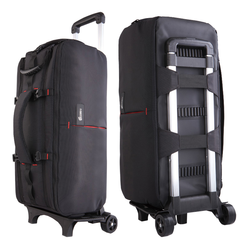 Photo Camera Video Nylon Shoulders Backpack Trolley Case Thick Padded Waterproof for Canon Nikon Sony DSLR