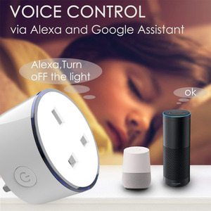 Image 4 - Smart telefon ladegerät UK typ Drahtlose WIFI Fernbedienung buchse Startseite Voice Control Arbeitet Mit Google Home Mini Alexa IFTTT