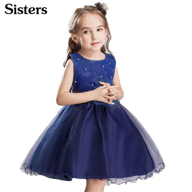 SISRERS 2018 Princess Dress Girls Dresses Kids Lace Tutu