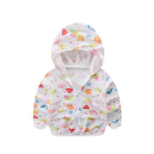 Unisex Baby Beach Clothes Children Windbreaker Printed Baby Boys Girls Sun Protection Clothes Baby Jacket Outside(China)