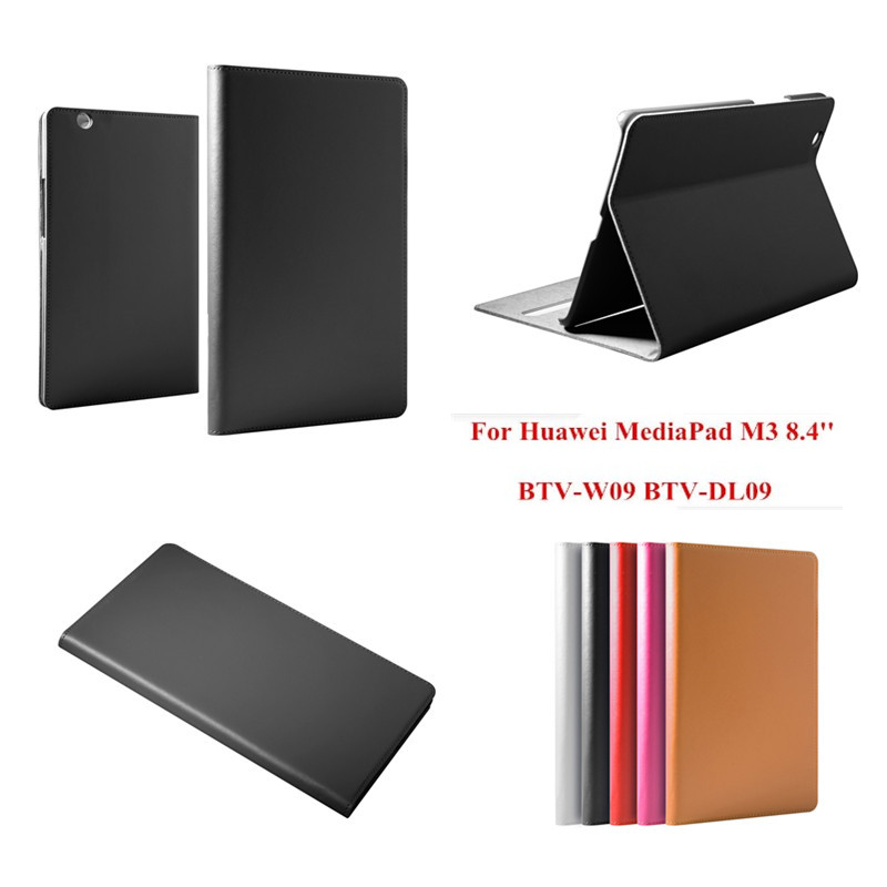 For Huawei Mediapad M3 8.4 inch BTV-W09 BTV-DL09 Tablet PC Stand Book Cover Genuine Leather Flip Business funda Cases mediapad m3 lite 8 0 skin ultra slim cartoon stand pu leather case cover for huawei mediapad m3 lite 8 0 cpn w09 cpn al00 8