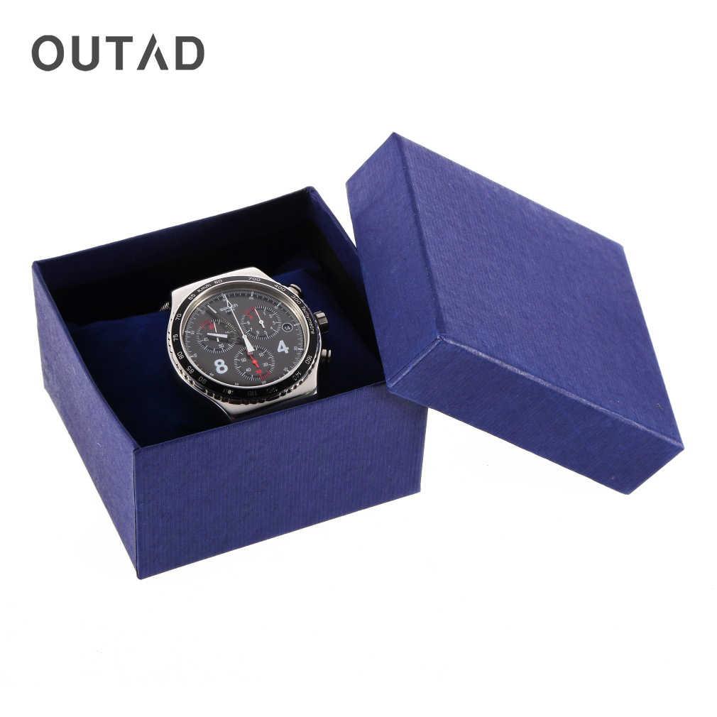 Caja de presentación de pulsera reloj oudad caja de joyería soporte de caja de almacenamiento de regalo cajas de embalaje de papel para con almohadilla de espuma 2019