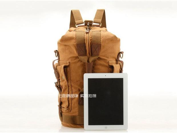 mochila de lona dos homens Interior : Bolso do Telefone de Pilha, bolso Interior do Zipper