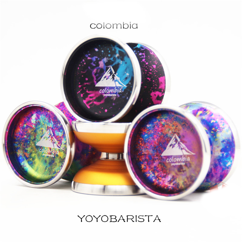 2019 New yoyobarista colombia yoyo professionnel 6061 ALUMINUM Metal Stainless steel outer ring YOYO yoyo ball