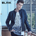 OLRIK 2016 Brand New Men Winter Padded Leather Jackets Coat PU Motorcycle Leather Jacket Suede Punk Casual Jacket Outerwear