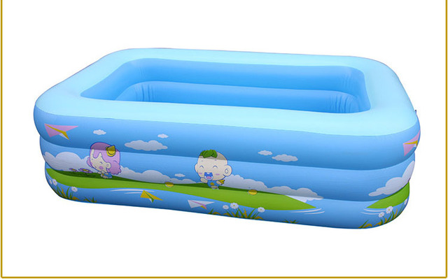Big Square Inflatable Baby Swimming Pool For Sale 225x145x60cm-in ...
