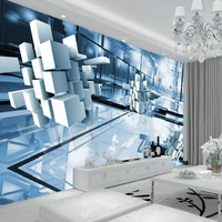 Modern Simple Sense Of Science Technology Three Dimensional Graphics Large Scale Murals Wallpaper Living Room Bedroom