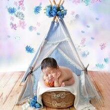 New Baby Photography Props for Girls Lace Tent Photo Shoot Studio Newborn Fotografia Sofa Posing Basket