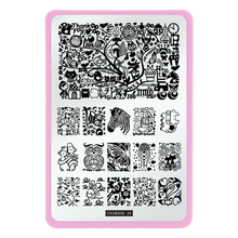 CICI&SISI Nail Template Beauty Image Nail Art Stencils Steel Stamp Stamping Konad Plate Print Tools 25