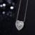 Emerald Cut Série Duplo Halo único Coração Pingente Colar Feito com 18 K de Ouro Sólido Branco E 0.24 cttw VS Real Natural diamante