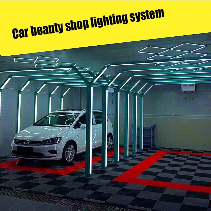 Us 1700 0 High End Car Beauty Film Dust Free Work Supplies Tunnel Gantry Lighting Wash Station Diamond Honeycomb Lamp On Aliexpress