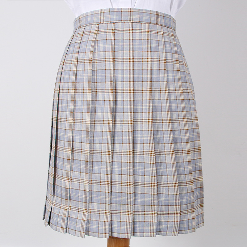 2019 Summer Japanese Korean Version High Waist Pleated Skirts School Uniform Students A Word Jk Student Girl Pleated Skirt Girls