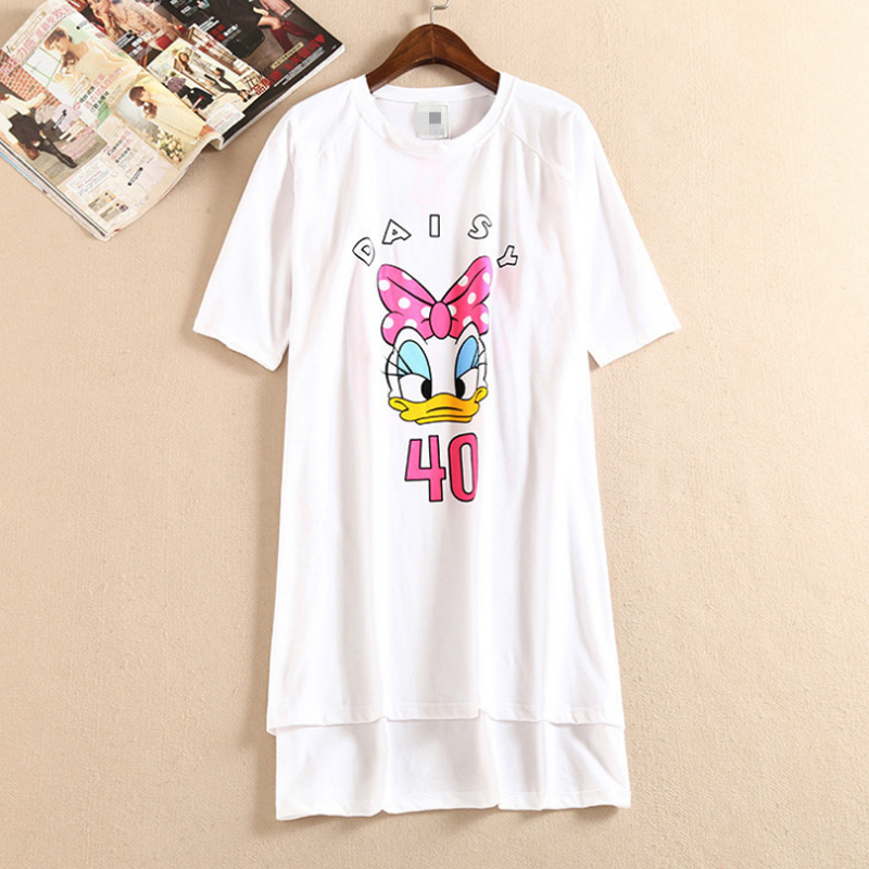 Summer dress women nightgowns sleepshirts casual girls dress cartoon sleepwear robe women cotton nightgown nightwear home dress