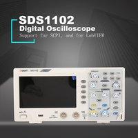 OWON SDS1102 двухканальный ЖК дисплей Супер экономичный тип цифровой осциллограф Scopemeter Scope метр 100 мГц 1GSa/s