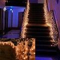 Освещение праздника 4*0.6 М Фея Огни AC 220 В Красочные Занавес Шнура Для Гирлянда Свадьба Украшения LED Свет рождества