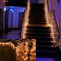 Holiday Lighting 4*0.6M Fairy Lights AC 220V Colorful Curtain String For Garland Wedding Party Decoration LED Christmas Light