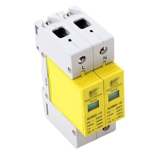 2P 10-20KA Din Rail Surge Protection Over Voltage Lightning Arrester SPD spd surge thunder lightning protection device arrester 2p 40 80ka din rail mount