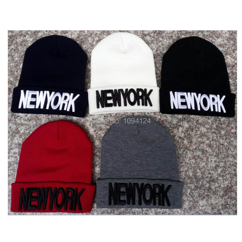 High Elastic Winter   Beanies   New York 3D Letters embrodiery Hats Warm Hip Pop   Skullies     Beanies   Gorro Adult Sombreros Hombre Caps