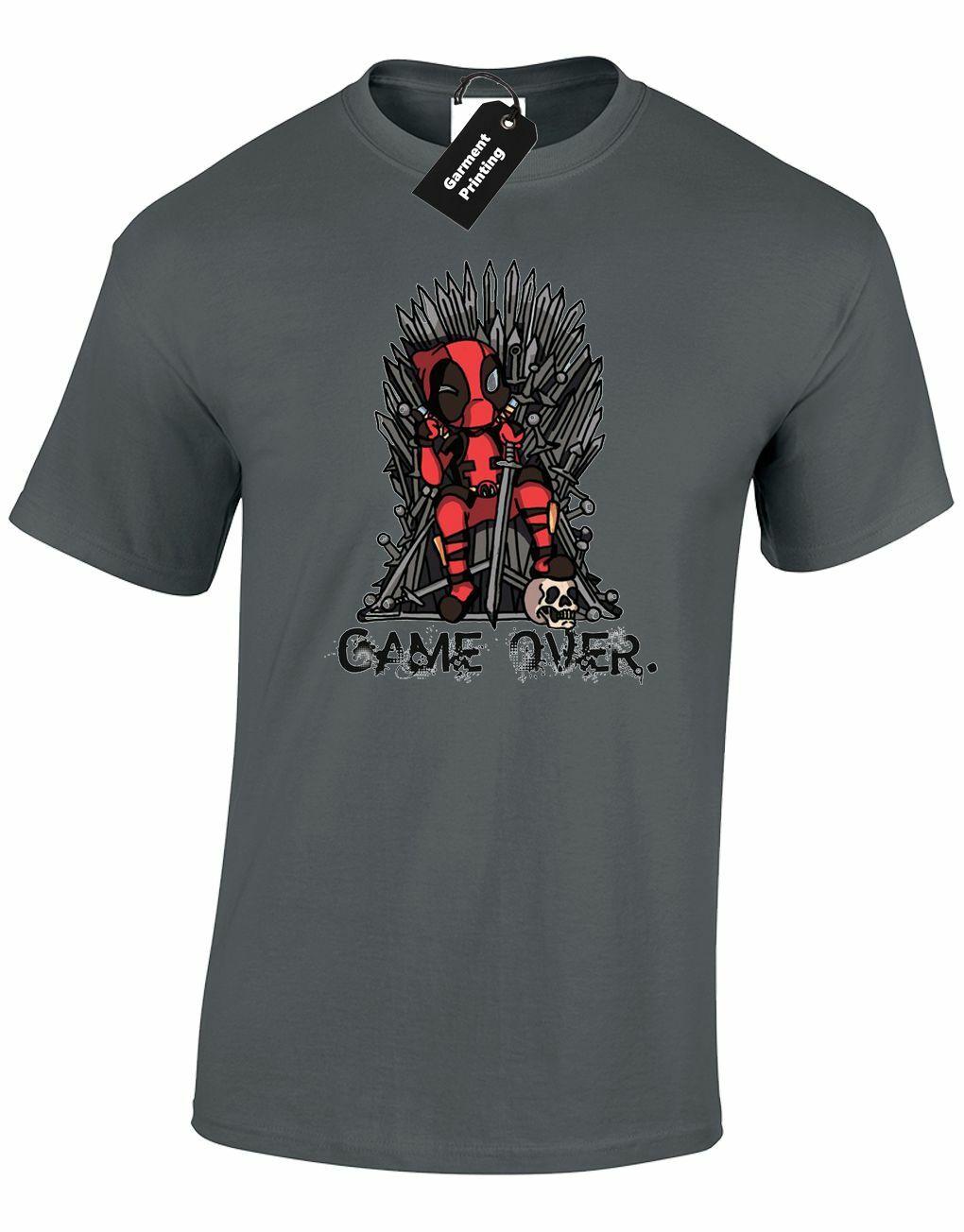 Jeu de DEADPOOL hommes t-shirt drôle trônes JON SNOW IRON HULK TYRION homme TOP 2019 mode t-shirt, Hip Hop t-shirt drôle