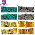 BLEM85-88 Water decal full cover Nail Stickers Real Tiger Snake skin design nail sticker For nail decals decorations