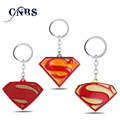12/pcs/lot Superhero Hot Movie Superman Keychain S Logo Key Rings Gift Key chain Jewelry Key Holder for Car YS10968