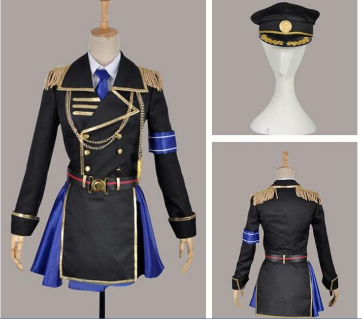 Nouveau japon Anime K projet Seri Awashima chat cosplay militaire uniforme ensemble costume
