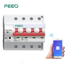 FEEO 4P 32/40/63/80A Remote control Wifi Circuit Breaker Intelligent Automatic Recloser overload short circuit protection