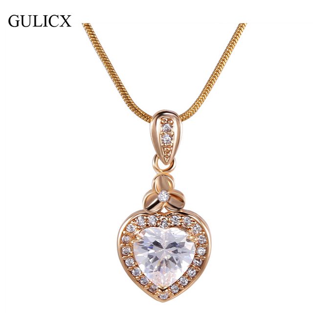 GULICX New Women Heart Pendants  White /Gold-color Slide Murano Glass Pendant Druzy Stone Jewelry  with Necklace P007/P008