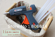 1Pcs Hot Melt Glue Gun (220V 20W) & 5Pcs Glue Sticks (0.7*25CM) Jewelry Making Tools Set