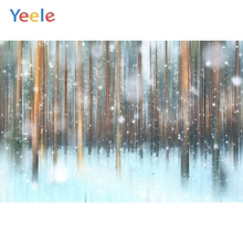 Yeele Winter Landscape Forest Fallen Snow Glitter Photography Backdrops Personalized Photographic Backgrounds For Photo Studio
