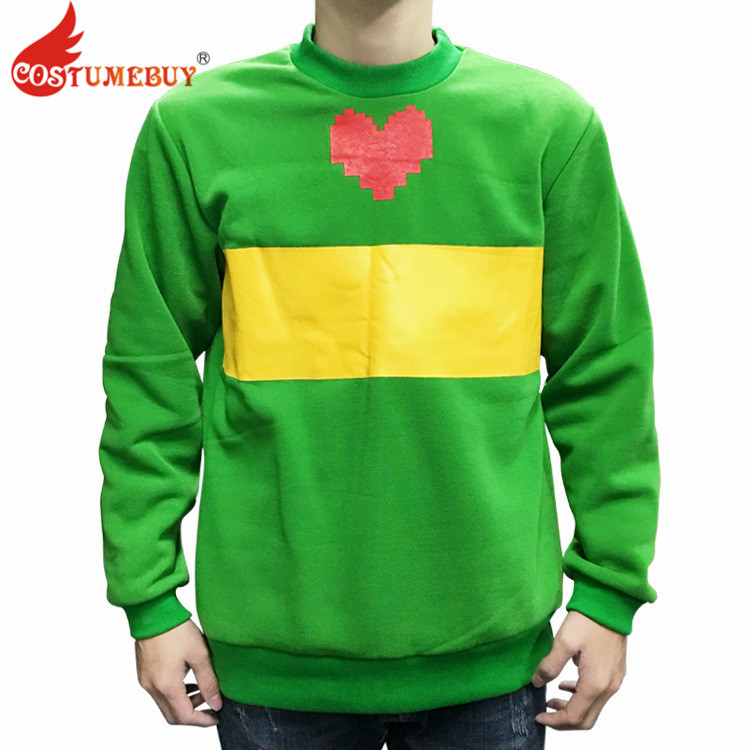 CostumeBuy Game Undertale Chara Green Top Coat Adult Men Winter Sweatshirt Jacket Coat Costume L920