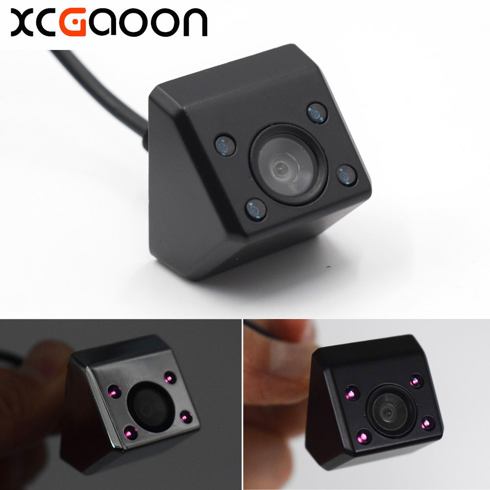 XCGaoon Classic CCD Car Rear View Camera 140 gradi grandangolare Impermeabile Real 4 luci IR Visione notturna Assistenza in retromarcia