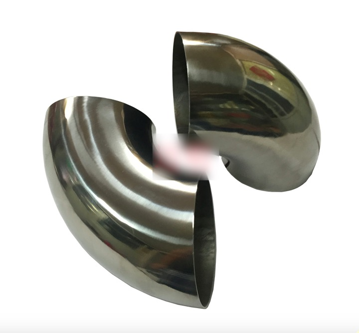 5PCS/LOT  Outer D:63mm Thickness:2mm 304 Stainless Steel Elbow 90 degree Welding Sanitary