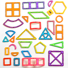 1 PCS standard size Magnetic Building Blocks 24 different types Kids Educational Toys Plastic DIY toys