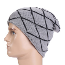 Hip Hop Beanies For Men Fashion Adults Hedging Outdoor Skullies Winter Autumn Acrylic Plaid Striped Knitting