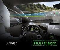Черный определение HUD Дисплеи OBD2 temp сигнализации с нанотехнологии Электроника для автомобиля euobd проектор overspeed