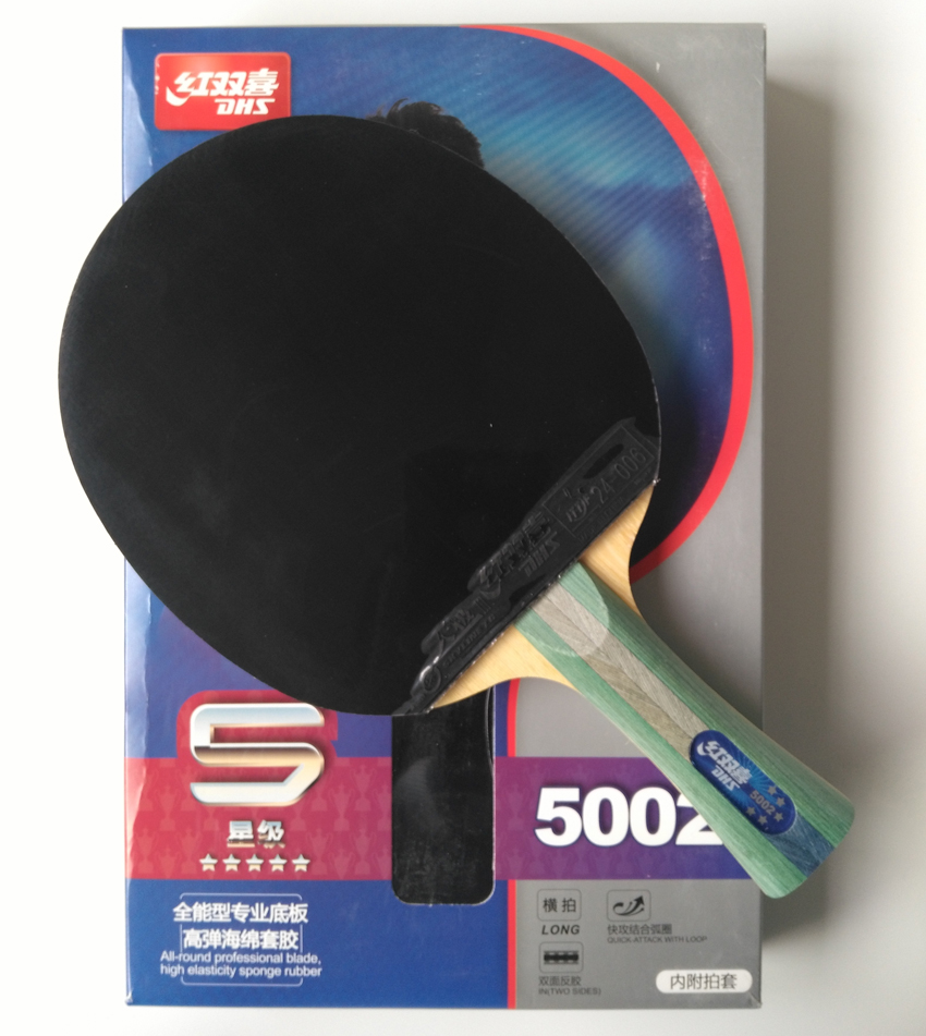 Original DHS 5002 finished racket FL long handle table tennis racket 5 stars factory made racket Table Tennis Ping Pong Racket winmax wmy52415z1 professional quality 5 star long handle table tennis racket bat red black