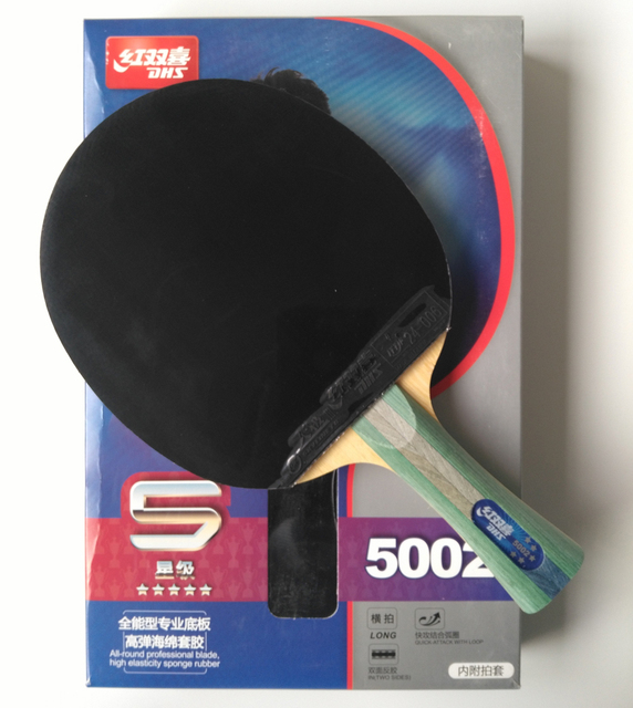 Original DHS 5002 finished racket FL long handle table tennis racket 5 stars  factory made racket 840a081c8ac02