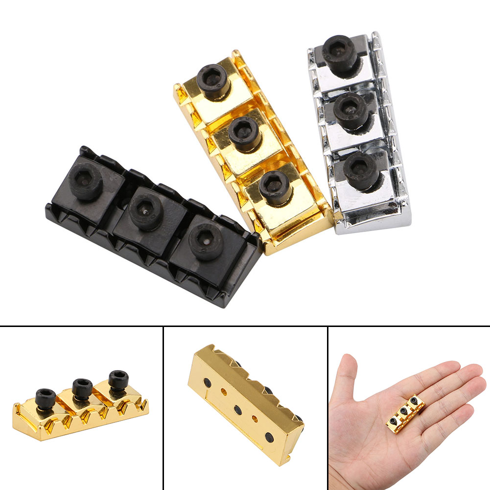 1Pcs Metal Black/Silver/Gold Guitar Locking Nut String Lock for Floyd Rose Style Guitar With Allen Wrench Guitars Accessories