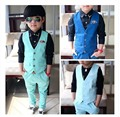 2016 England Style Boys Clothing Sets Single Breasted 3-10y Shirt+Pants Kids Outwear Children Wedding Suits For Boys EB52