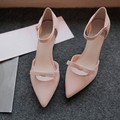 2017 women high heels pumps wedding shoes female point toe summer shoes pink sy-1716