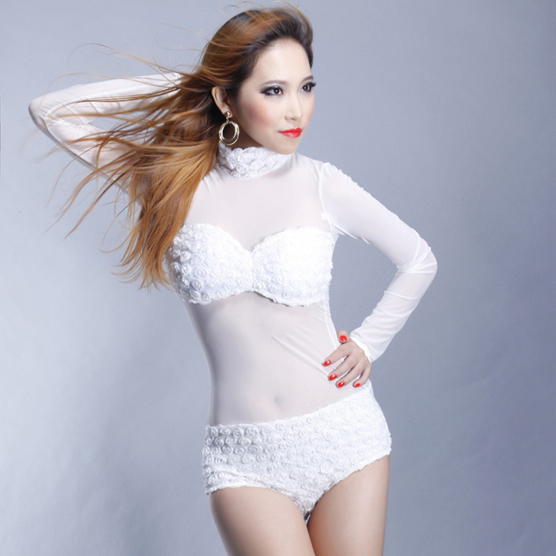 2018 new perspective GAGA singer DS dancer costume bodysuit for lady freeshipping hot sale