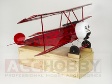 Selesai Versi PNP Balsawood Pesawat Model Laser Cut Electric Power Fokker DRI 770mm Wingspan Woodiness model / WOOD PLANE