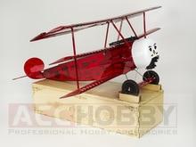 Versiunea finalizată PNP Balsawood model de avion cu laser tăiat de putere electrică Fokker DRI 770mm Aripi model Woodiness model / WOOD PLANE