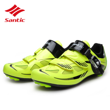 Santic Men Cycling Shoes Road 2018 Pro  TPU Self-Locking Racing Road Bicycle Bike Shoes Athletic Zapatillas Sapatillas Ciclismo