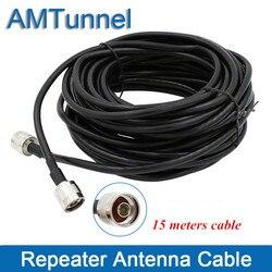 Amplificador de cable repetidor para antena al aire libre y de Interior antena con conector N macho cable coaxial de 15 metros.