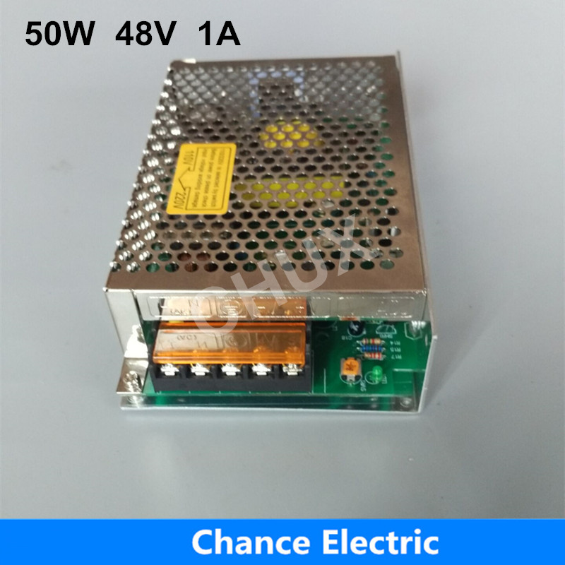 Regulated Switching Power Supply 50W for LED Strip Light S-50W-48V DC To AC Switch Power Supply 48V 1A ac 85v 265v to 20 38v 600ma power supply driver adapter for led light lamp