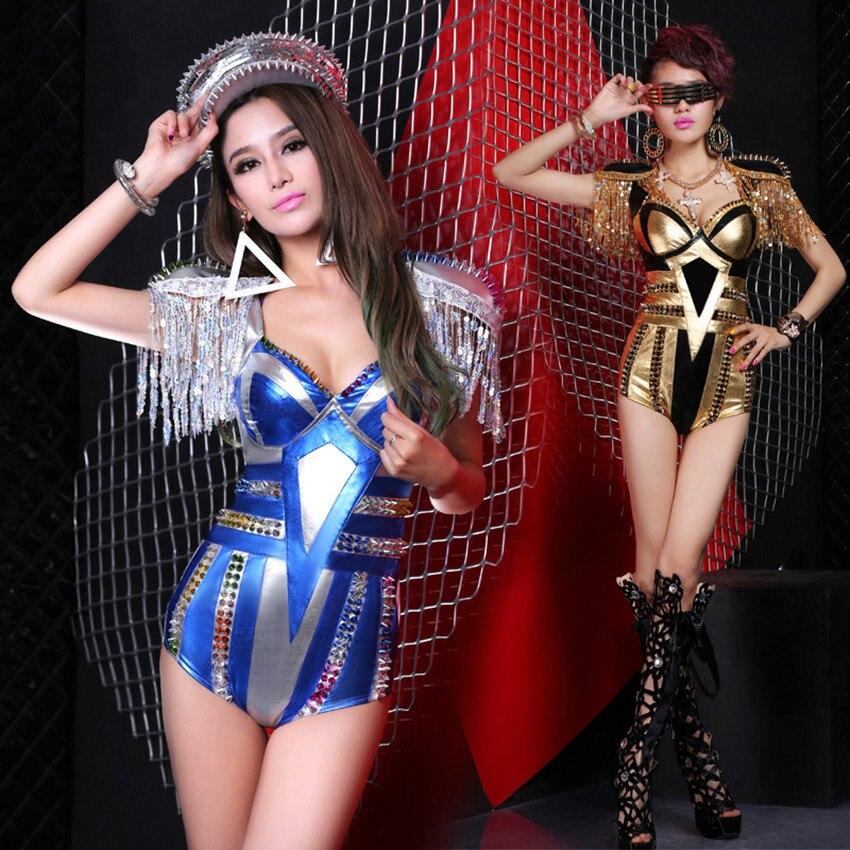 Offre spéciale 2015 Bar femmes mode ds costume sexy scène costumes pour chanteurs femme led danse costume jazz danse combinaisons